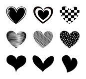 Hearts icons Royalty Free Stock Photography