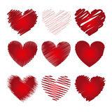 Hearts icons Stock Photography