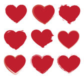 Hearts icons Royalty Free Stock Photos