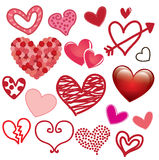 Hearts icons Royalty Free Stock Photo
