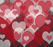 Hearts. Icons pattern background effect Royalty Free Stock Photography