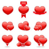 Hearts Icons Stock Photos
