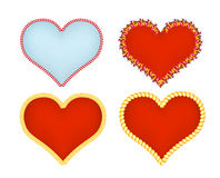 Hearts icons set. Abstract romantic forms of heart Stock Images