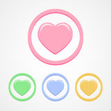 Hearts icons set great for any use. Vector EPS10. Stock Image