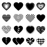 Hearts icons set Royalty Free Stock Image