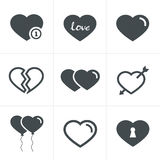 Hearts  Icons Set, Vector Design Stock Images
