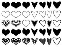 Hearts illustrated on white Stock Photos