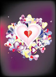 Hearts Illustration Royalty Free Stock Photo