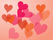 Hearts illustration Royalty Free Stock Images