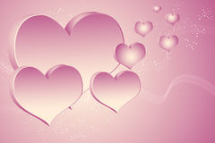 Hearts illustration background Stock Photography