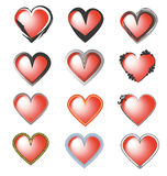 Hearts illustration Stock Photo