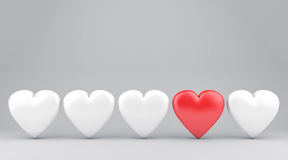 The hearts Stock Photography