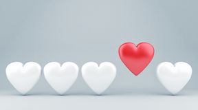 The hearts Royalty Free Stock Images
