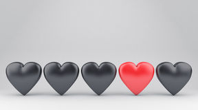 The hearts Stock Image