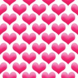 Hearts illustration seamless pattern Valentine`s day background colored pink royalty free stock photography
