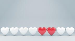 The hearts Stock Photo