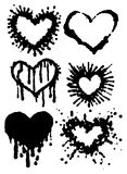 Hearts Ink Blots Stock Image