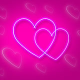 Hearts Intertwinted Represents Passion Background And Relationship Stock Image
