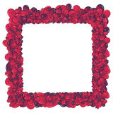 Hearts invasion frame. Valentine card. Ideal hearts frame for valentines day portrait royalty free illustration