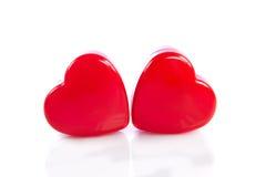 Hearts isolated on white background objects studio shot Stock Image