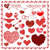Hearts items vector design set for everything vector illustration