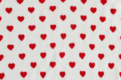 Hearts on jersey Royalty Free Stock Photos