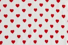 Hearts on jersey Royalty Free Stock Photos