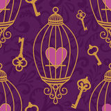 Hearts-keys-pattern Royalty Free Stock Image