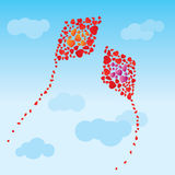 The hearts kites Stock Photo
