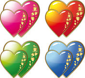 Hearts Labels Royalty Free Stock Images