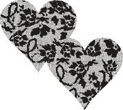 Hearts Lace Royalty Free Stock Image