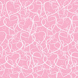 Hearts lace pattern Stock Photography