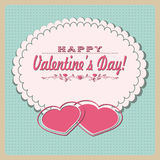 Hearts on lace Royalty Free Stock Photo