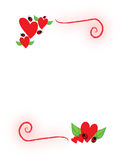 Hearts and ladybugs Royalty Free Stock Photos