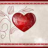 Hearts and leafs Royalty Free Stock Images