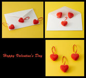 Hearts and letterbox Stock Images