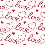 Hearts and letters seamless pattern Royalty Free Stock Photo
