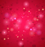 Hearts with light red background vector design.  vector illustration