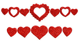 Hearts line decoration Royalty Free Stock Photography