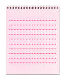 Hearts - lined pink spiral notebook, Stock Images