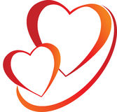 Hearts logo Stock Photography
