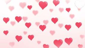 Hearts Loop / Smooth Cartoon Background