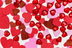 Hearts. A lot of heart everywhere Royalty Free Stock Images