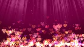 Hearts love background stock footage