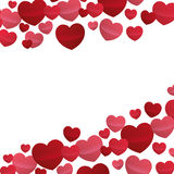 Hearts love beautiful valentine design Royalty Free Stock Image