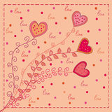 Hearts love card Stock Photo