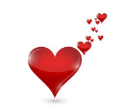 Hearts love concept illustration design Royalty Free Stock Photography