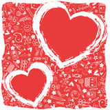 Hearts love  - Doodles collection Stock Images