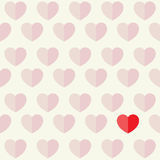 Hearts and Love Flat Icon Design Background Illustration Royalty Free Stock Photos