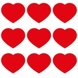 Hearts with love icon vector illustration